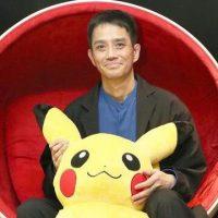 Satoshi Tajiri with Pikachu